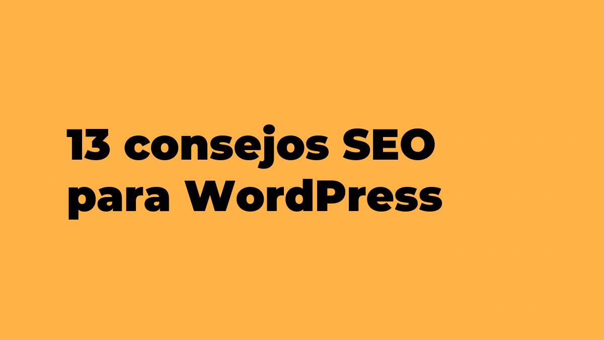 13 consejos SEO para WordPress
