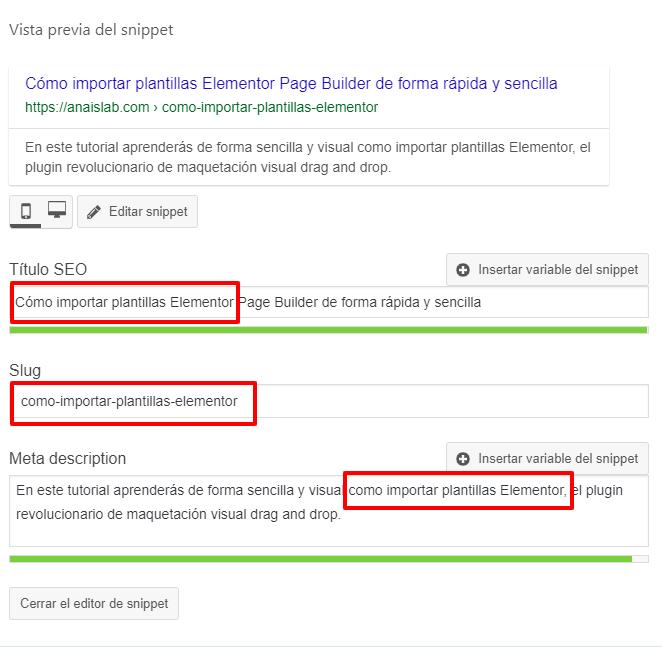 repite tu palabra clave para mejorar tu SEO de WordPress